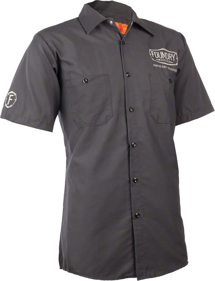 Foundry cycles mechanic work shirt charcoal in tree fort for Foundry men s polo shirts