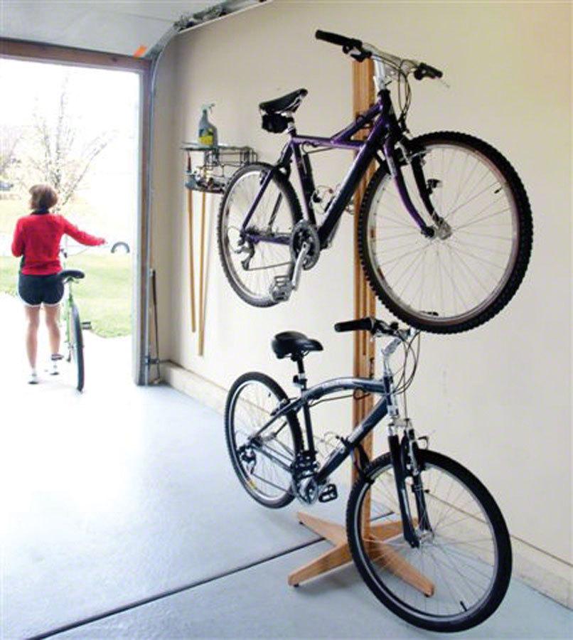 Gear Up Oak Freestanding 2 Bike Rack In Tree Fort Bikes