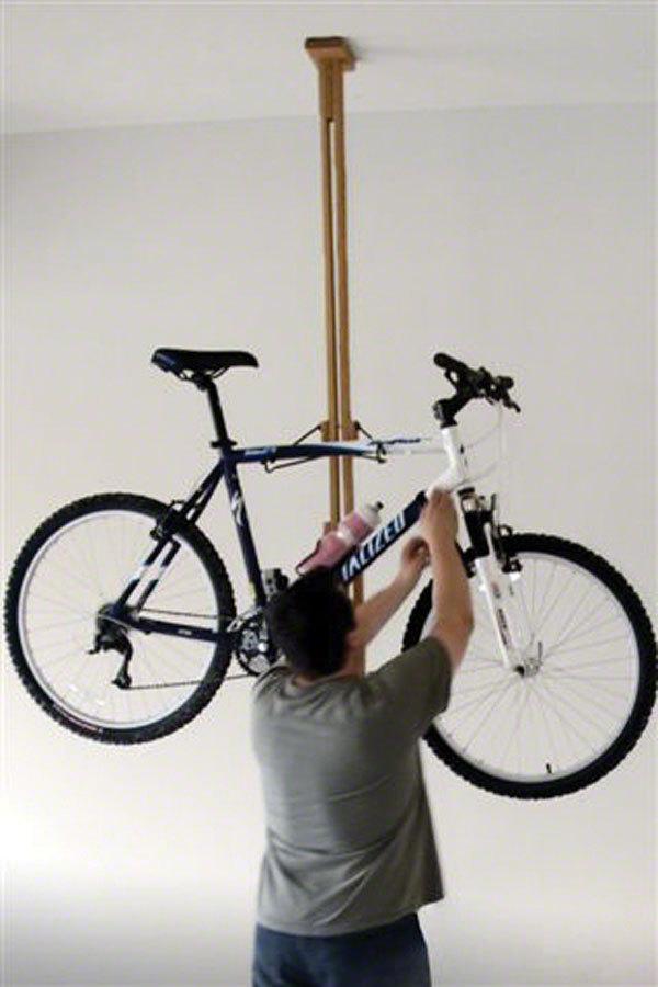 Gear Up Floor To Ceiling Oak 2 Bike Bike Rack In Tree