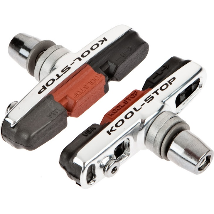 Kool stop cross threaded with dura dual compound brake