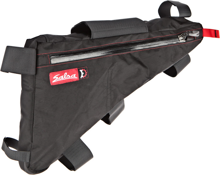 main view of the salsa mukluk frame bag