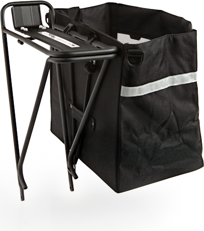 Axiom Hunter Grocery Bag Pannier Open Box In Tree Fort Bikes